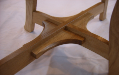 Brass Oak Table detail